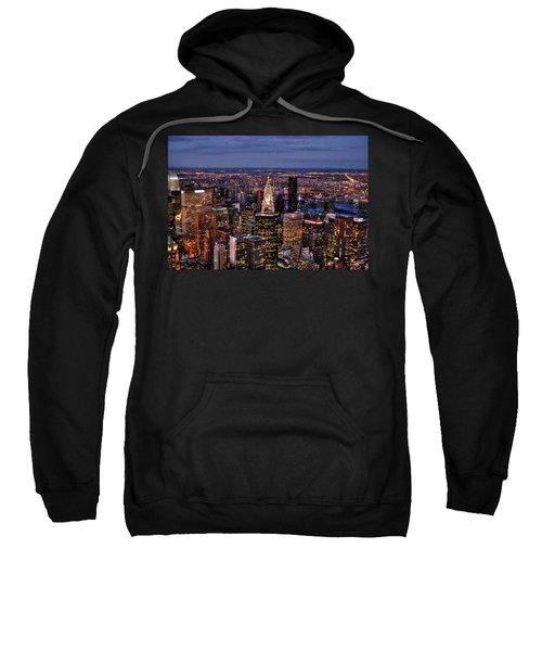 Midtown Skyline At Dusk Sweatshirt by Randy Aveille