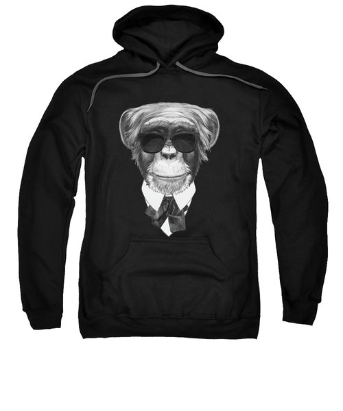 Monkey In Black Sweatshirt by Marco Sousa