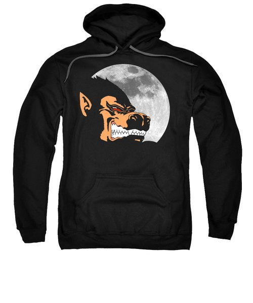 Night Monkey Sweatshirt by Danilo Caro
