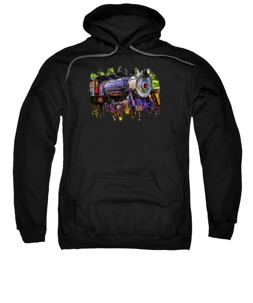 Old Locomotive No.90 Version 2 Sweatshirt by Thom Zehrfeld
