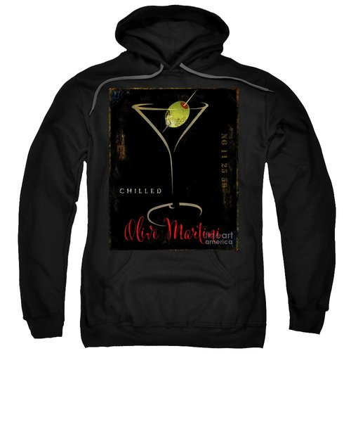 Olive Martini Sweatshirt by Mindy Sommers