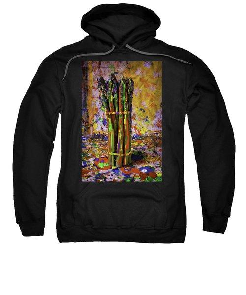 Painted Asparagus Sweatshirt by Garry Gay