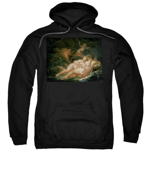 Pan And Syrinx Sweatshirt by Francois Boucher