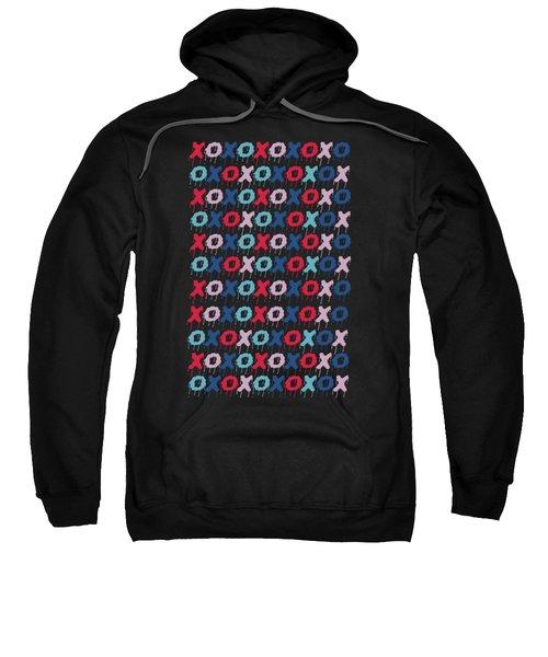 Pattern X O  Sweatshirt by Mark Ashkenazi
