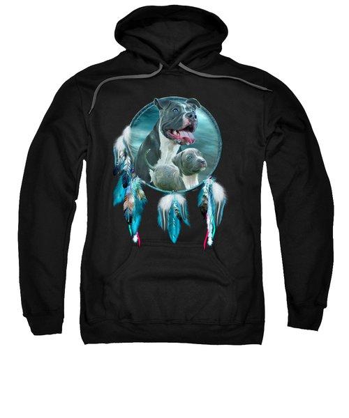 Pit Bulls - Rez Dog Sweatshirt by Carol Cavalaris