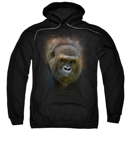 Portrait Of A Gorilla Sweatshirt by Jai Johnson