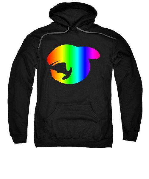 Rainbow Whale Sweatshirt by Frederick Holiday
