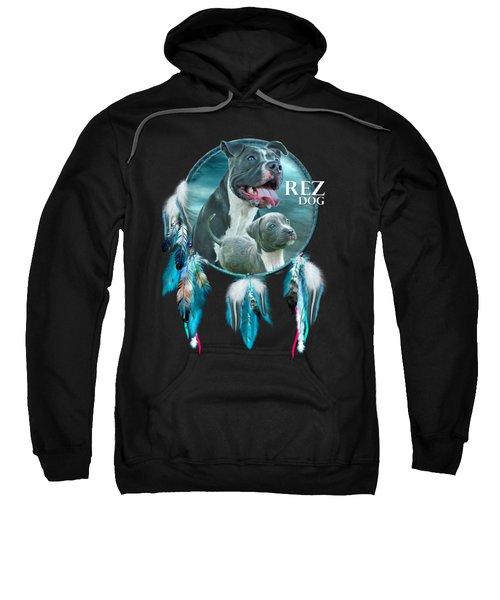 Rez Dog Cover Art Sweatshirt by Carol Cavalaris
