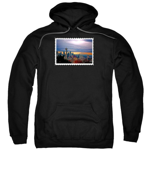 Seattle At Sunset Sweatshirt by Elaine Plesser