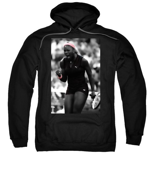 Serena Williams On Fire Sweatshirt by Brian Reaves