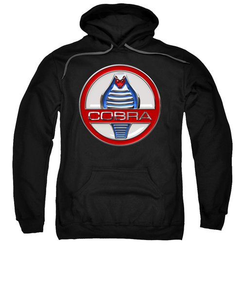 Shelby Ac Cobra - Original 3d Badge On Black Sweatshirt by Serge Averbukh