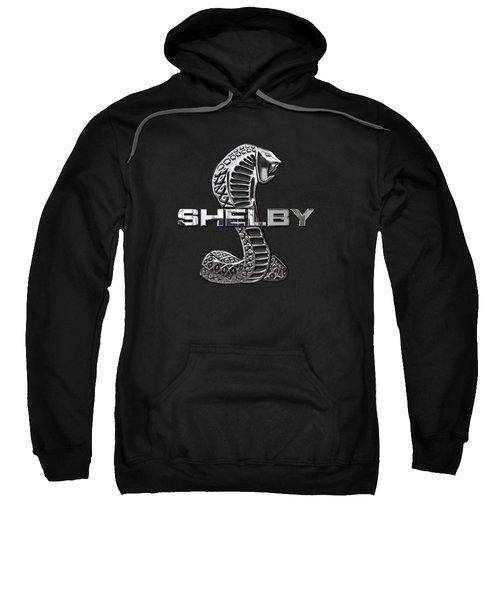 Shelby Cobra - 3d Badge On Black Sweatshirt by Serge Averbukh