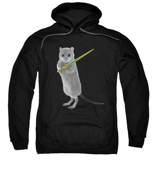 Squeaky, Warrior Mouse Sweatshirt by Susan Eileen Evans