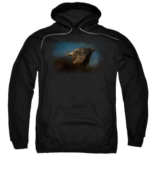 Storm Chaser - Bald Eagle Sweatshirt by Jai Johnson