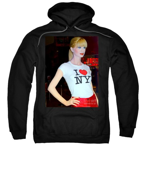 Taylor In Times Square Sweatshirt by Ed Weidman