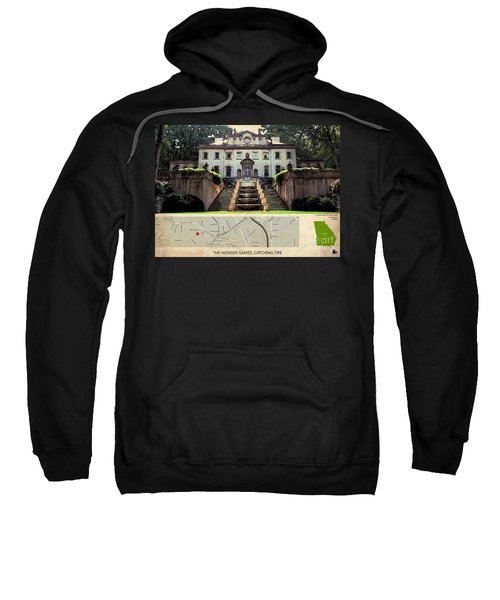 The Hunger Games Catching Fire Movie Location And Map Sweatshirt by Pablo Franchi