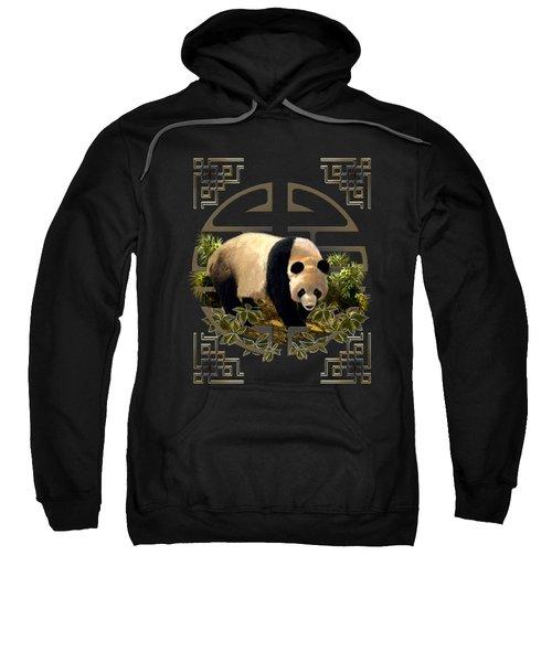 The Panda Bear And The Great Wall Of China Sweatshirt by Regina Femrite