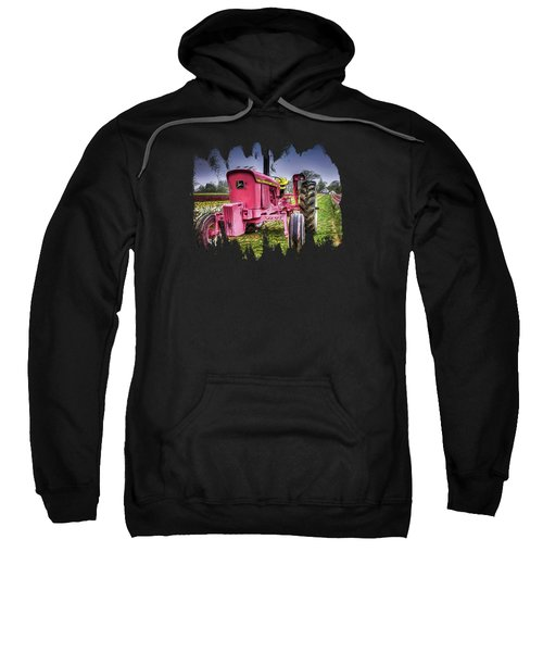 The Pink Tractor At The Wooden Shoe Tulip Farm Sweatshirt by Thom Zehrfeld