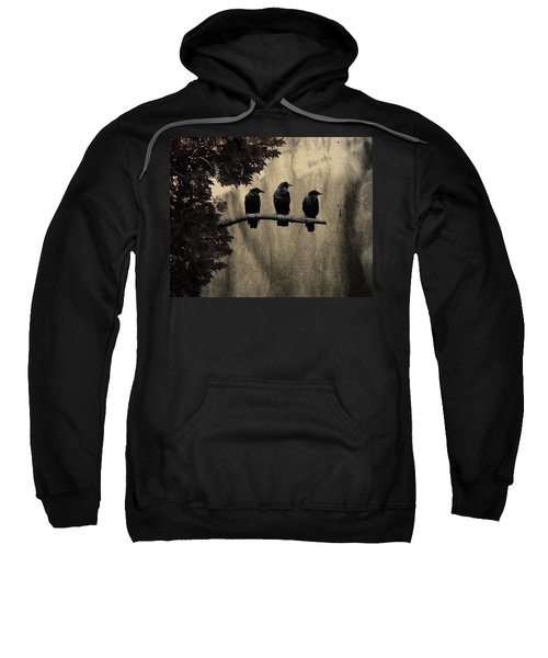 Three Ravens Sweatshirt by Gothicolors Donna