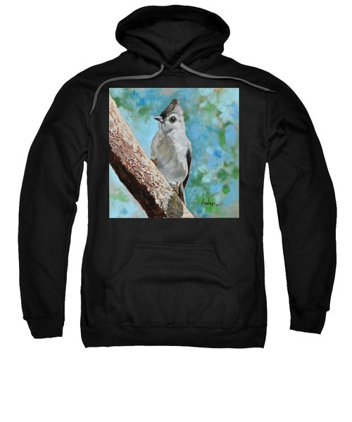Tufted Titmouse #1 Sweatshirt by Amber Foote