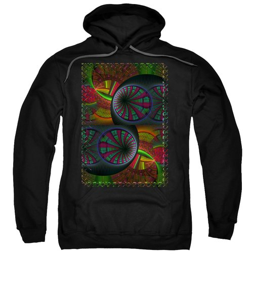 Tunneling Abstract Fractal Sweatshirt by Sharon and Renee Lozen
