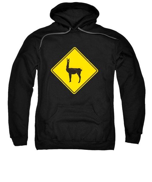 Warning Guanacos Sweatshirt by Mirko Chianucci