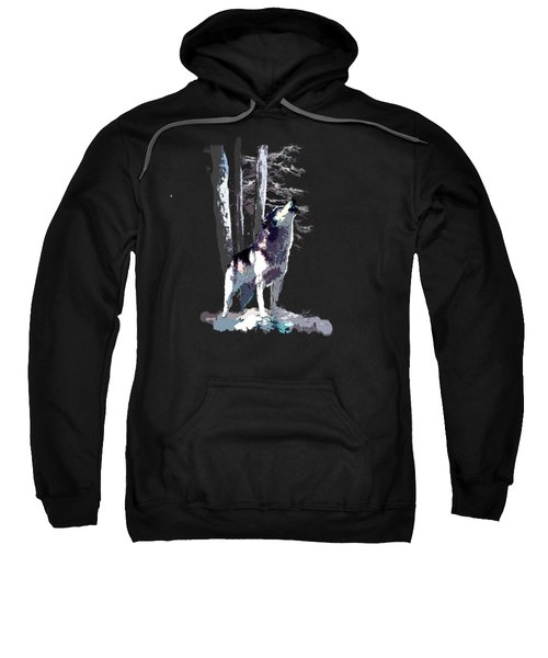 Wolf  Howling Memory Sweatshirt by Regina Femrite