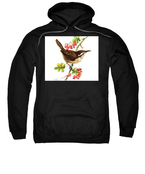 Wren And Rosehips Sweatshirt by Nell Hill