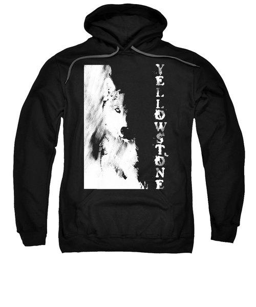 Yellowstone Wolf T-shirt Sweatshirt by Max Waugh