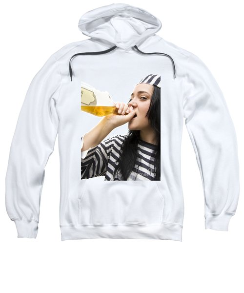Drinking Detainee Sweatshirt by Jorgo Photography - Wall Art Gallery