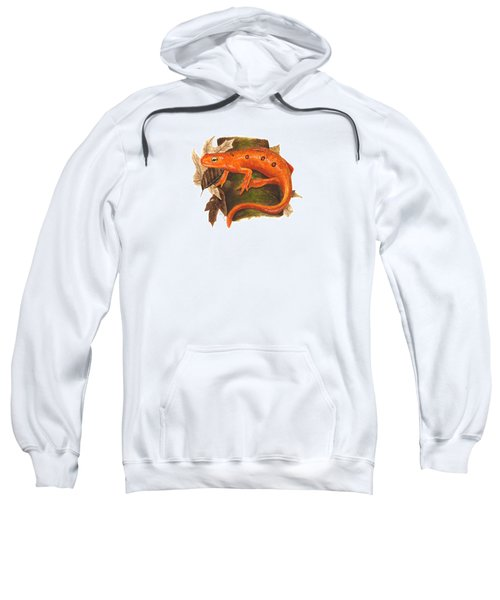 Red Eft Sweatshirt by Cindy Hitchcock