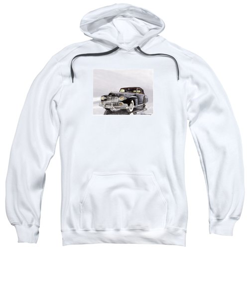 1946 Lincoln Continental Convertible Foggy Reflection Sweatshirt by Jack Pumphrey