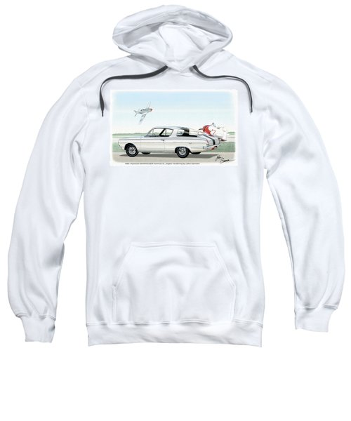 1965 Barracuda  Classic Plymouth Muscle Car Sweatshirt by John Samsen