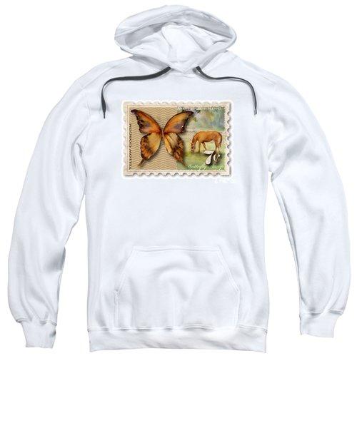 7 Cent Butterfly Stamp Sweatshirt by Amy Kirkpatrick
