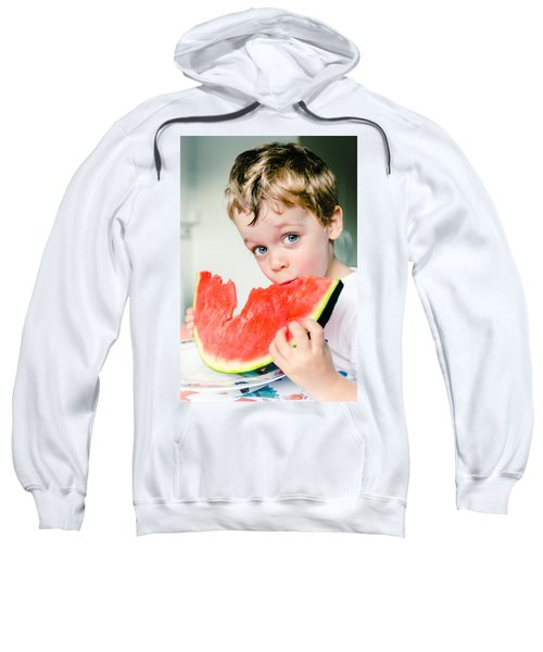 A Slice Of Life Sweatshirt by Marco Oliveira