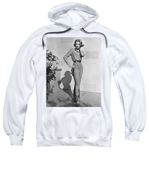 Actress Grace Kelly Sweatshirt by Underwood Archives