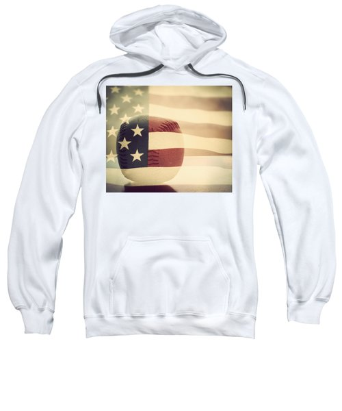 Americana Baseball  Sweatshirt by Terry DeLuco