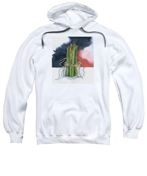 Asparagus In Raffia Sweatshirt by Maria Hunt