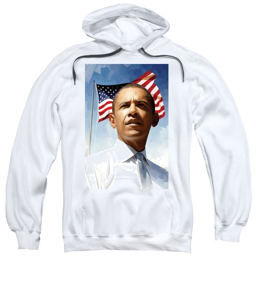 Barack Obama Artwork 1 Sweatshirt by Sheraz A
