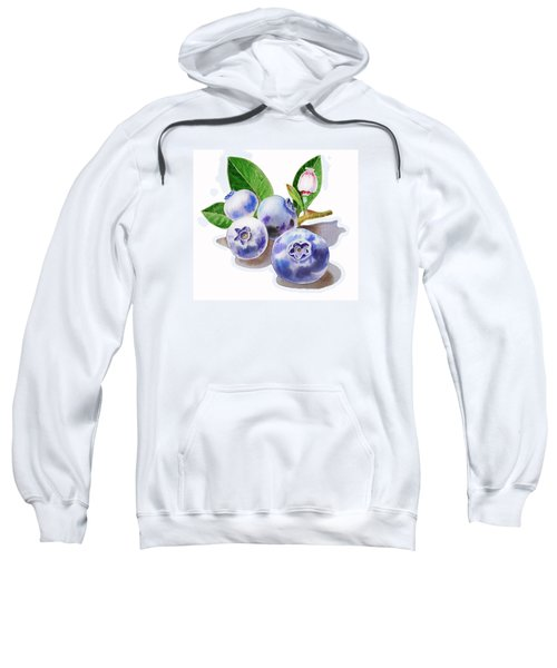 Artz Vitamins The Blueberries Sweatshirt by Irina Sztukowski