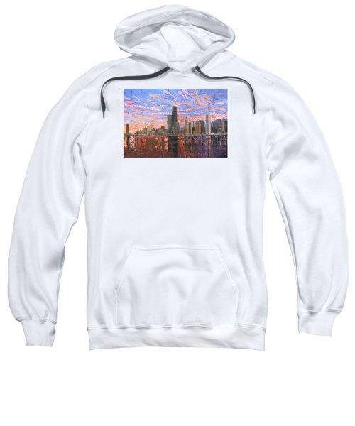 Chicago Skyline - Lake Michigan Sweatshirt by Mike Rabe