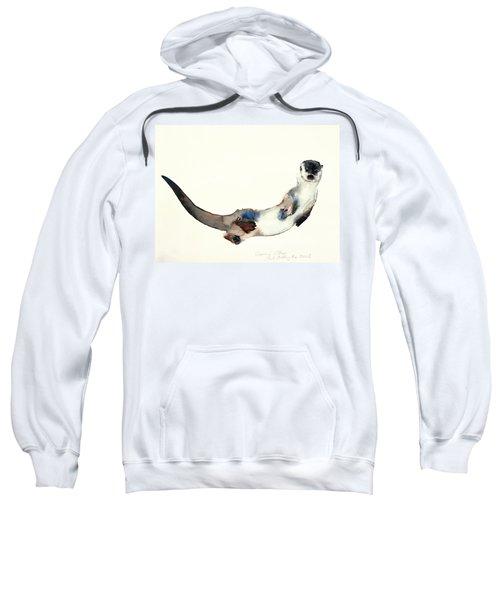 Curious Otter Sweatshirt by Mark Adlington
