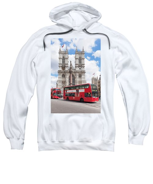 Double-decker Buses Passing Sweatshirt by Panoramic Images