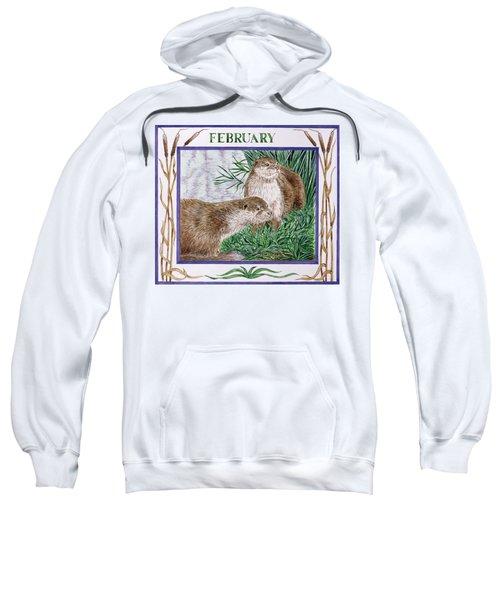 February Wc On Paper Sweatshirt by Catherine Bradbury