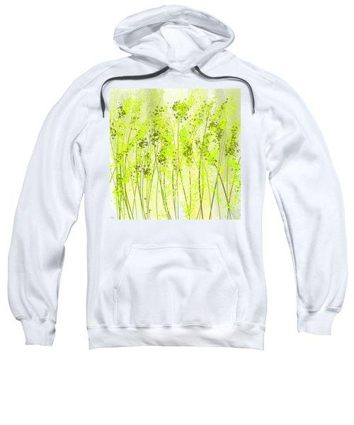 Green Abstract Art Sweatshirt by Lourry Legarde