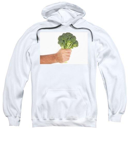 Hand Holding Broccoli Sweatshirt by James BO  Insogna