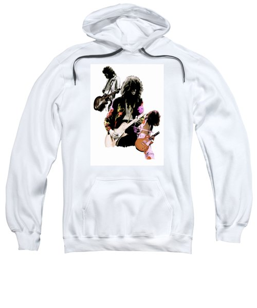 In Flight Iv Jimmy Page  Sweatshirt by Iconic Images Art Gallery David Pucciarelli