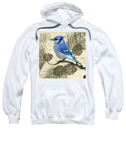 Jeweled Blue Sweatshirt by Lourry Legarde