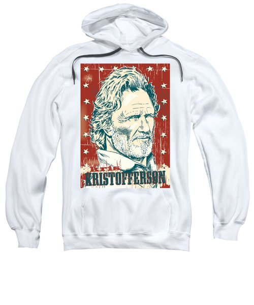 Kris Kristofferson Pop Art Sweatshirt by Jim Zahniser