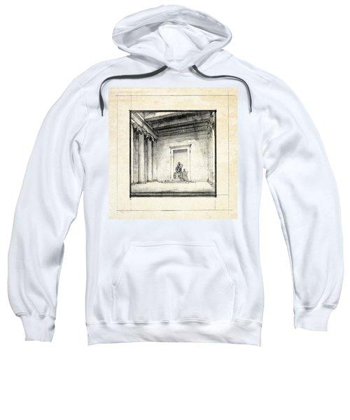 Lincoln Memorial Sketch IIi Sweatshirt by Gary Bodnar